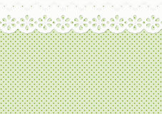 Festoon or ornament on spotted pattern - endless. Endless festoon, ornament on green spotted pattern Stock Image