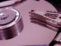 Festplatte öffnete sich Stockfoto