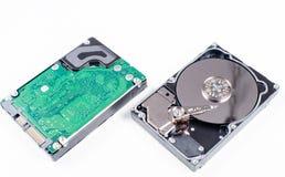 Festplatte Dämpfungsreglers gelesen und Schreibkopf im Makroschuß lizenzfreie stockfotografie
