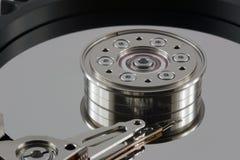 Festplatte - extreme Nahaufnahme Lizenzfreie Stockfotos