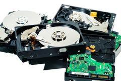 Festplatte für Computer auf lokalisiertem weißem Hintergrund lizenzfreie stockbilder