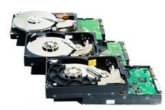 Festplatte für Computer auf weißem Hintergrund Stockbild