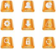 Festplatte-Ikonen Stockbild