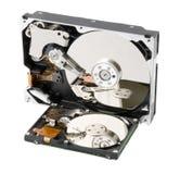 Festplatte mit zwei Computern Lizenzfreie Stockfotos