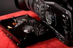 Festplatte und Videokamera Lizenzfreies Stockbild