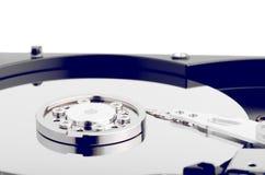 Festplatten-Abschluss oben mit Reflexion Lizenzfreie Stockfotos