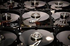 Festplatten-Computer fährt geöffnet und übereingestimmt Stockfoto