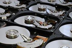 Festplatten-Computer fährt geöffnet und übereingestimmt Stockbilder