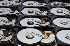 Festplatten-Computer fährt geöffnet und übereingestimmt Stockfotos