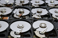 Festplatten-Computer fährt geöffnet und übereingestimmt Lizenzfreie Stockfotos
