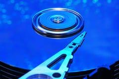 Festplattenblau Leuchte Lizenzfreies Stockfoto