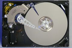 Festplattendisketten Öffnen Sie hdd Festplatte Datenwiederaufnahme von geschädigten Medien Lizenzfreies Stockfoto