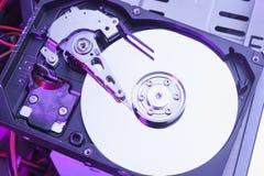 Festplattenlaufwerk auseinandergebaut lizenzfreie stockfotos