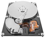 Festplattenlaufwerk des Computers lokalisiert auf Weiß stockfoto