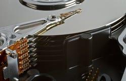 Festplattenlaufwerk des Servers im Abschluss oben Lizenzfreie Stockfotos