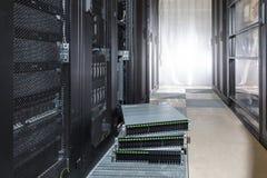 Festplattenlaufwerk im Speichersystem Stockfotos