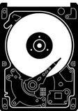 Festplattenlaufwerk-Scheibenikone Lizenzfreie Stockfotografie