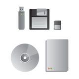 Festplattenlaufwerke und Einheiten des Speichers Stockfotografie
