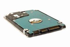 Festplattenlaufwerkformfaktor von 2 5 Zoll auf einem lokalisierten weißen backgr lizenzfreies stockbild