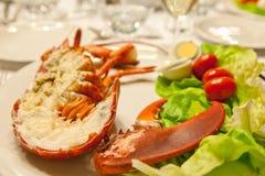 Festsive lobster plate Royalty Free Stock Image