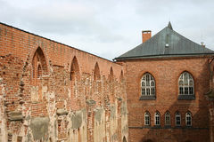 Festung alt, eine Wand und ein Kontrollturm Stockbild