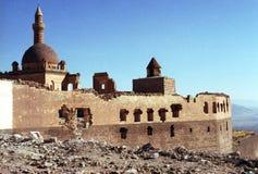 Festung auf Berg in der Türkei stockbild