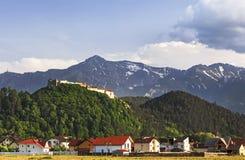 Festung auf dem Berg stockbild