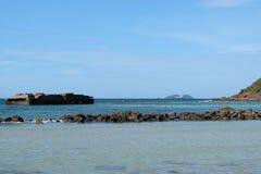 Festung auf dem Meer Stockbild