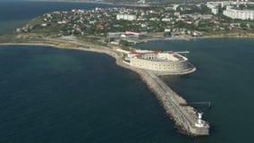 Festung auf der Küste stock footage