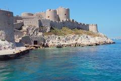 Festung auf Seeküste Chateau d'If, Marseille, Frankreich Lizenzfreies Stockfoto
