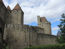 Festung Carcassonne Stockfotografie