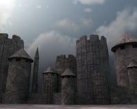 Festung 3D stock abbildung