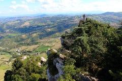 Festung in den Bergen Stockbild