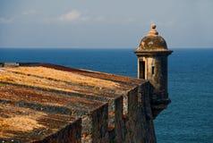 Festung durch das Meer Stockbilder
