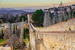 Festung in Girona Stockfotografie