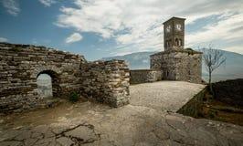 Festung in Gjirokastra lizenzfreies stockfoto