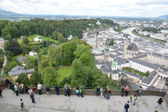 Festung Hohensalzburg fotografia stock libera da diritti
