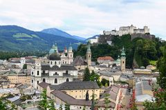 Festung Hohensalzburg Castle, Austria Stock Photography