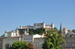 Festung Hohensalzburg i Salzburg royaltyfri bild