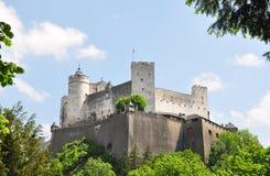 Festung Hohensalzburg i Salzburg royaltyfri fotografi