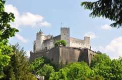 Festung Hohensalzburg in Salzburg. Colorful and crisp image of festung Hohensalzburg in Salzburg Royalty Free Stock Images