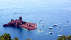 Festung im Meer Stockfotos
