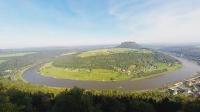 Festung Königstein stock footage