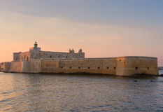 Festung Maniace in Syrakus Sizilien Lizenzfreies Stockbild