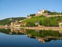 Festung Marienberg in Würzburg lizenzfreies stockbild