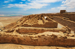 Festung Masada, Israel Stockfotos