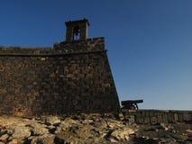 Festung mit Kanone Lizenzfreies Stockfoto