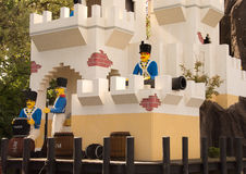 Festung mit Soldaten in Lego Lizenzfreies Stockfoto