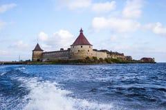 Festung Oreshek Shlisselburg Stockfotos