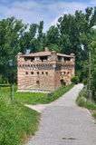 Festung Rocca Stellata. Bondeno. Emilia-Romagna. Stockbild